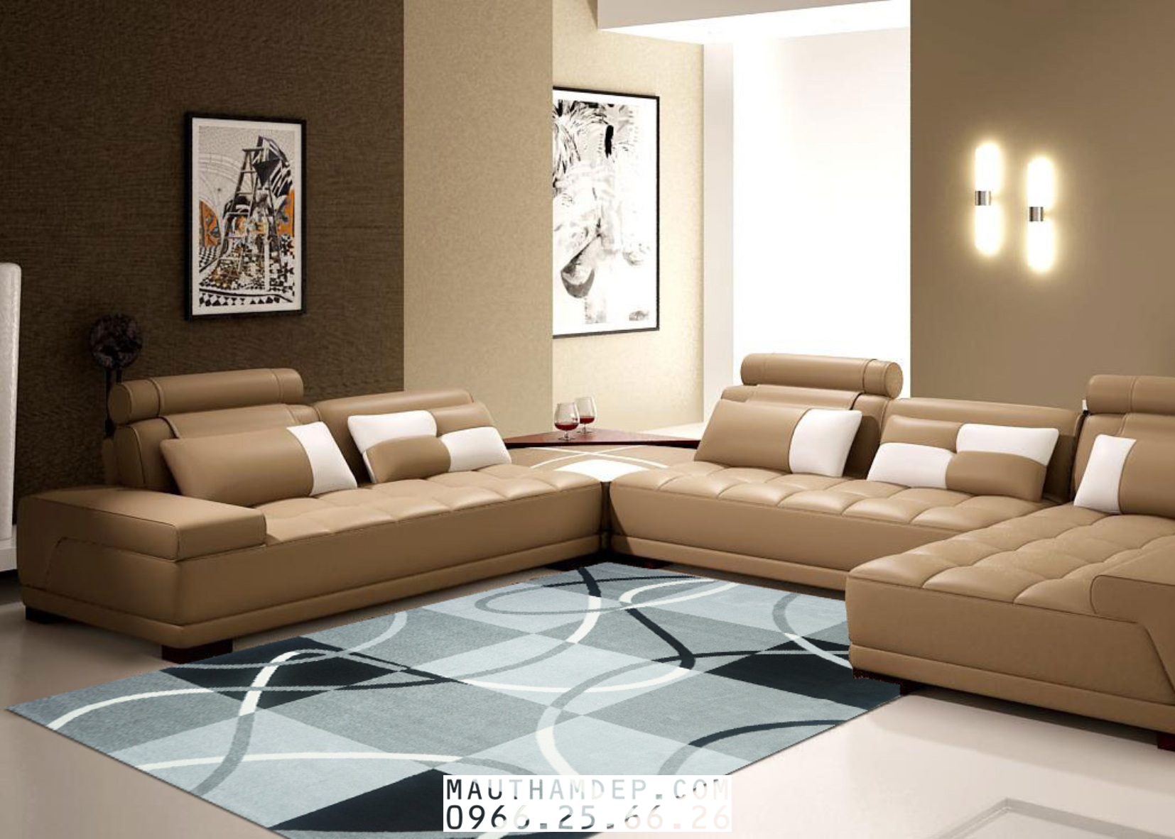 Mẫu Thảm Sofa 3 món ĐẸP - Hãy gọi cho chúng tôi để được tư vấn, lựa chọn Thảm Sofa