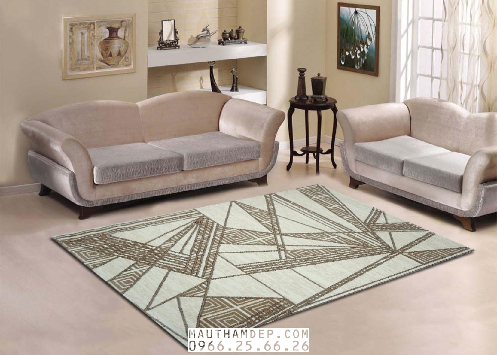 Thảm SOFA 3 món 2 ghế băng đẹp của Tân Uy Vũ