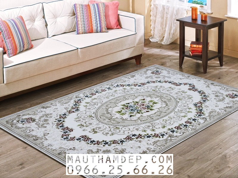Thảm sofa Tân cổ điển cho phòng khách, nhập khẩu chính hãng