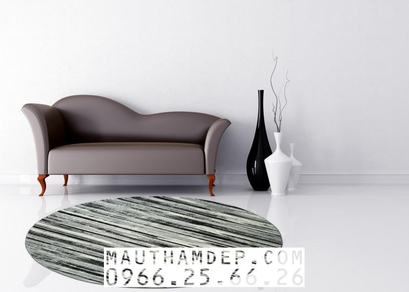 Mẫu thảm tròn đẹp cho sofa 1 băng