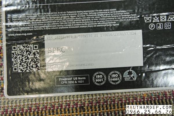Thảm trang trí spec 25203979- 6